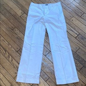 Gap White Jeans Regular Boy Cut Distressed